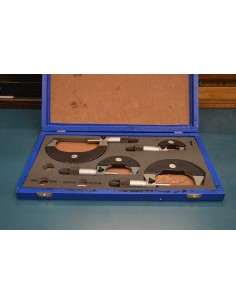 Estuche micrómetros exteriores analógicos SOMET 0-100mm