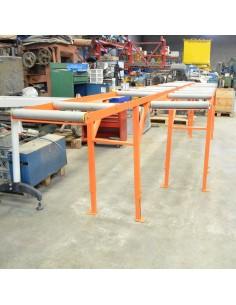 Camino de rodillos aluminio 4+3 metros